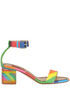 Multicoloured leather sandals Valentino