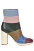 Striped leather ankle boots Valentino