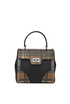 Printed saffiano leather and nylon handbag Prada