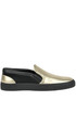 Metallic effect leather slip-on sneakers Armani collezioni