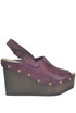 Nancy leather wedge clogs Antidoti