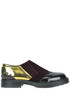 Velvet and patent-leather slip-on shoes Tipe e Tacchi