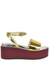 Metalic effect leather wedge sandals Tipe e Tacchi
