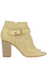 Open-toe cut-out leather ankle-boots Manas