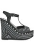 Iris studded wedge sandals Massimo Lonardo