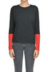 Contrasting sleeves pullover D.Exterior