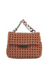 Becks small woven eco-leather shoulder bag Stella McCartney