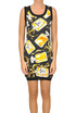 Printed silk dress Moschino Couture