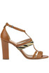 Haircalf insert leather sandals Twin-set  Simona Barbieri