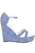 Textured cloth wedge sandals Kristina Ti