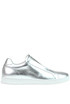 Metallic effect leather slip-on sneakers Dondup