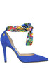 Foulard detail suede pumps Love Moschino