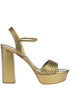 Metallic effect leather sandals Casadei