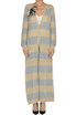 Striped mohair-blend long cardigan Patrizia Pepe