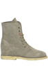 Velour lace-ups boots Passion Blanche