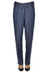 Denim style linen trousers Seventy 19.70