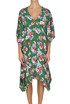 Flower print silk dress MSGM