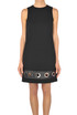 Leather and metal insert dress Michael Michael Kors