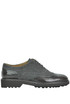 Suede and leather lace-ups shoes Franco Fedele