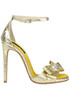Metallic effect leather sandals John Richmond