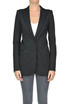 Eco-leather details blazer Patrizia Pepe