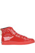 Patent-leather high-top sneakers Love Moschino