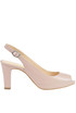 Open-toe leather pumps Unisa