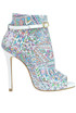 Printed leather ankle-boots Marc Ellis