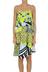 Flounced printed silk dress MSGM