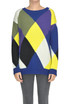 Checked print pullover MSGM