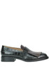 Reptile print leather loafers Dries Van Noten