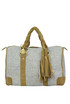 Cloth and suede bowling bag Reggiani