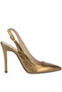 Metallic effect leather slingback pumps Tipe e Tacchi