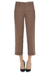 Cotton-blend cropped trousers Ninette