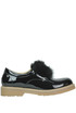 Fur insert patent-leather shoes Pokemaoke