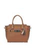 Textured leather mini tote bag Coach