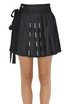 Pleated mini skirt Diesel Black Gold