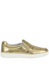 Metallic effect leather slip-on sneakers Carshoe
