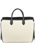 Leather and canvas tote bag Jil Sander
