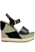 Leather wedge sandals Fiorina