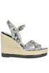 Reptile print leather wedge sandals Hogan