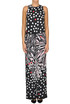 Printed crepe silk jumpsuit Space Style Concept