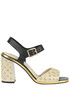 Studded textured leather sandals L'Autre Chose