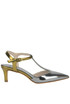 Metallic effect leather pumps Tipe e Tacchi