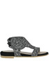 Glittered leather sandals Passion Blanche