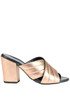 Metallic effect leather mules Alto Gradimento