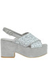 Glittered suede wedge sandals Strategia