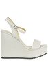 Leather wedge sandals Marcela Yil
