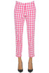 Vichy print trousers Love Moschino