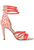 Printed leather sandals Patrizia Pepe